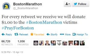 Faux compte Twitter du @_BostonMarathon