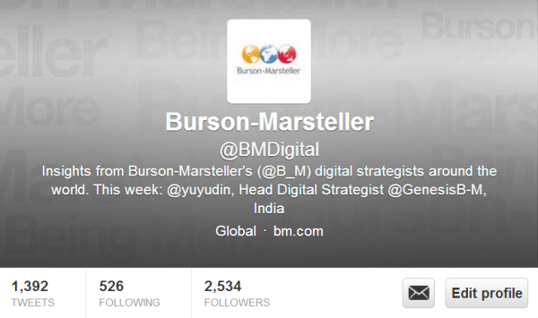 Burson-Marsteller Digital Twitter Handle @BMdigital