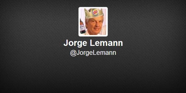 Faux profil Twitter de @JorgeLemann, propriétaire de Burger King